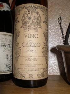 """Un esempio di """"Vino del Cazzo"""" tratto dalla rete, non quello di Coppo né quello di Siffredi"""